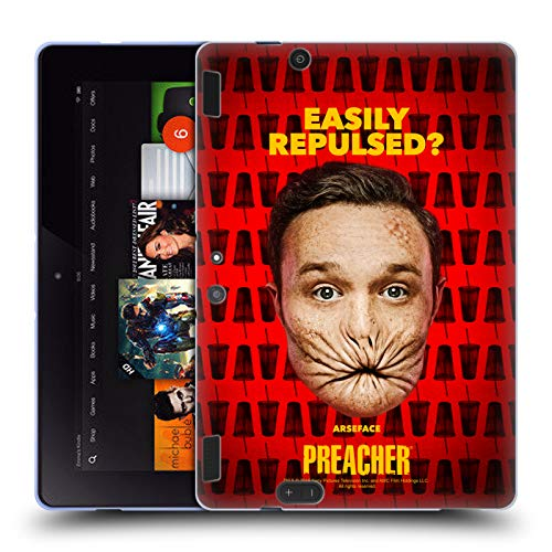 Official Preacher A Face Season 3 Character Art Soft Gel Case for Amazon Kindle Fire HDX 8.9