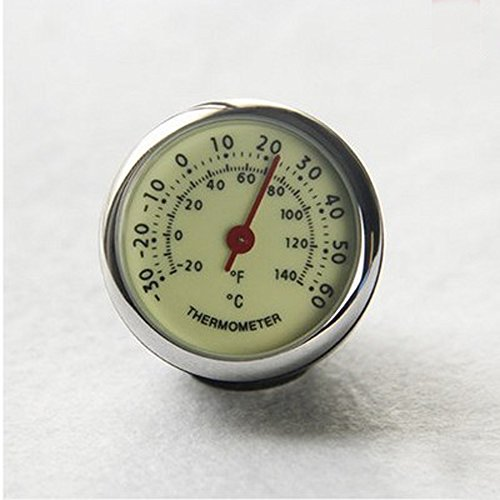 ANKI Table Classic Car Dashboard Small Round Analog Quartz Hygrometer Thermometer Humidity Meter (Luminous Thermometer) by ANKI HappiGo (Image #1)