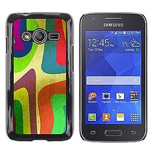 QCASE / Samsung Galaxy Ace 4 G313 SM-G313F / fondos de escritorio de neón colorfol arte de la pintura de la raya / Delgado Negro Plástico caso cubierta Shell Armor Funda Case Cover