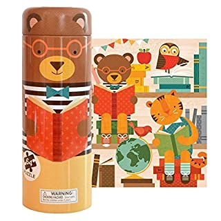 Petit Collage Tin Canister Jigsaw Floor Puzzle, Story Time, 64 Piece