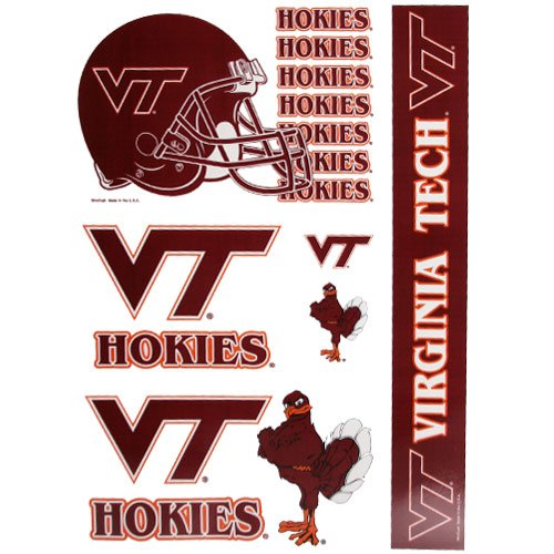(WinCraft NCAA Virginia Tech 53481081 Multi Use Decal, 11