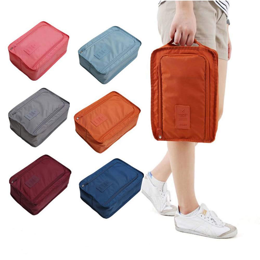 JASMIN SPRING 6 pack Shoe Bags Multi color Storage Organizer Bag boot bags travel laundry bag luggage laundry bag for Men Women