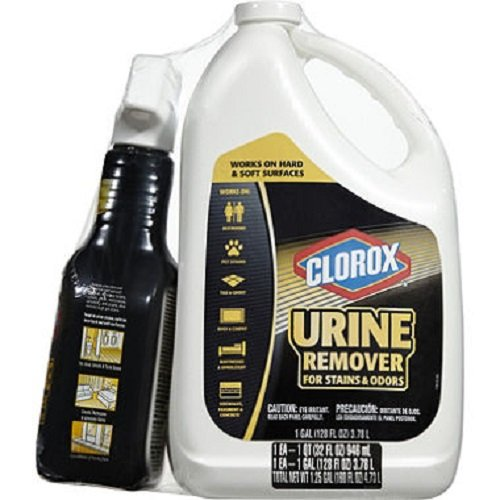 Clorox Urine Remover for Stain and Odor Spray 32oz. + Refill 128oz.