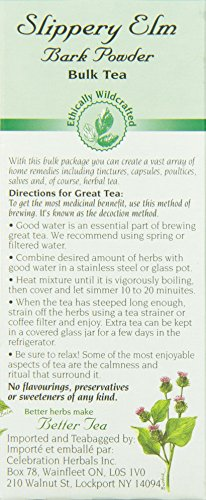 CELEBRATION HERBALS Slippery Elm Bark Pwd Wc 65 gm, 2.29 ounce by Celebration Herbals (Image #4)