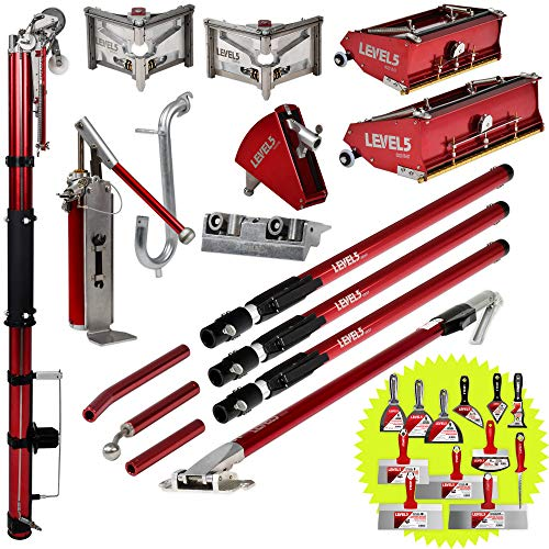 """Full Drywall Taping and Finishing Set - Level 5 