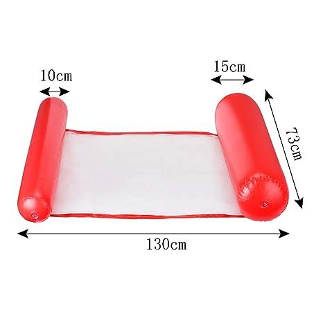 Cozywind Colchoneta de Piscina Hamaca Flotante 130x73cm (Rojo): Amazon.es: Juguetes y juegos