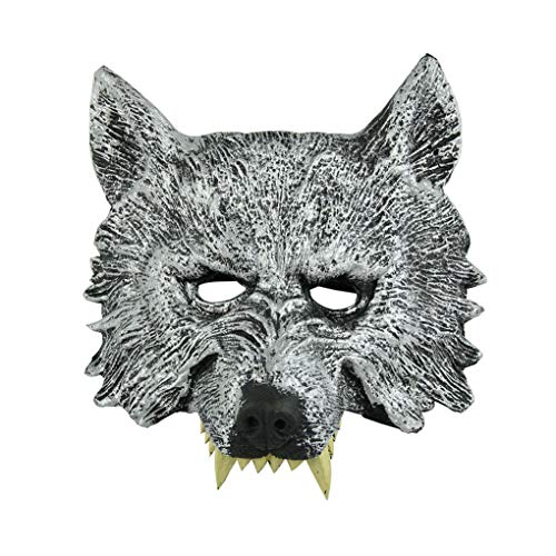 (Wolf Head Mask Werewolf Animal Masquerade Halloween Cosplay Costume Party)