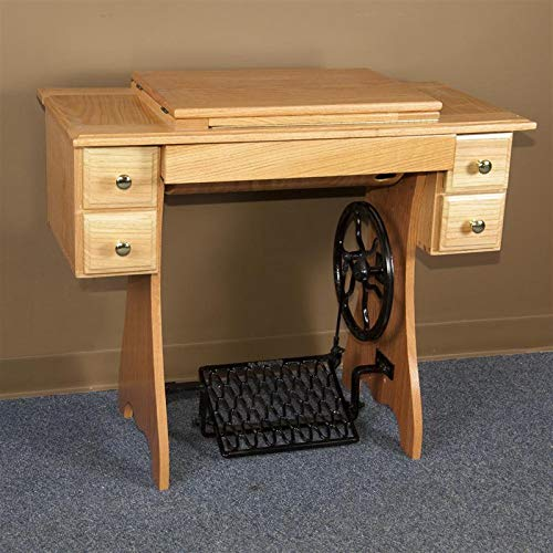 (Eicher's Furniture Traditional Sewing Cabinet and Treadle)