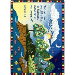 Faith Based Creation Kids Rug Rug Size: 3'10'' x 5'4'' by Joy Carpets