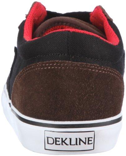 Dekline Archer 602183 - Zapatillas de skate de ante unisex Marrón (Braun (Brown/Black/Red))