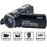 "Camcorder Full HD Digital Camera Portable Mini Handheld Camcorder Digital Video Camera Camcorders With IR Night Vision 24.0 Mega pixels DV 3"" LCD Screen 18X Digital Zoom"