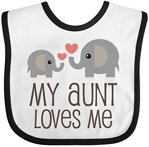 Inktastic My Aunt Loves Me Gift Baby Bib Buy Online In Oman