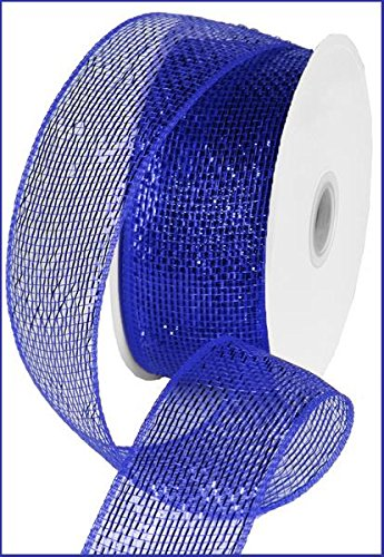(Metallic Poly Deco Mesh Ribbon (2.5