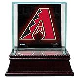 MLB Arizona Diamondbacks Glass Single Baseball Case with Team Logo Background