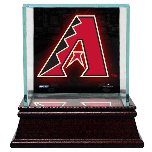 Steiner Sports MLB Arizona Diamondbacks Glass Single Baseball Case with Team Logo Background ()
