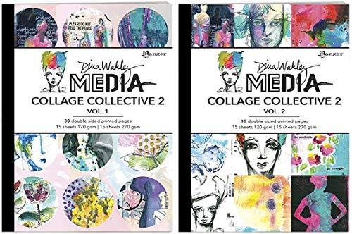 Dina Wakley MEdia 2020 - Mixed Media Collage
