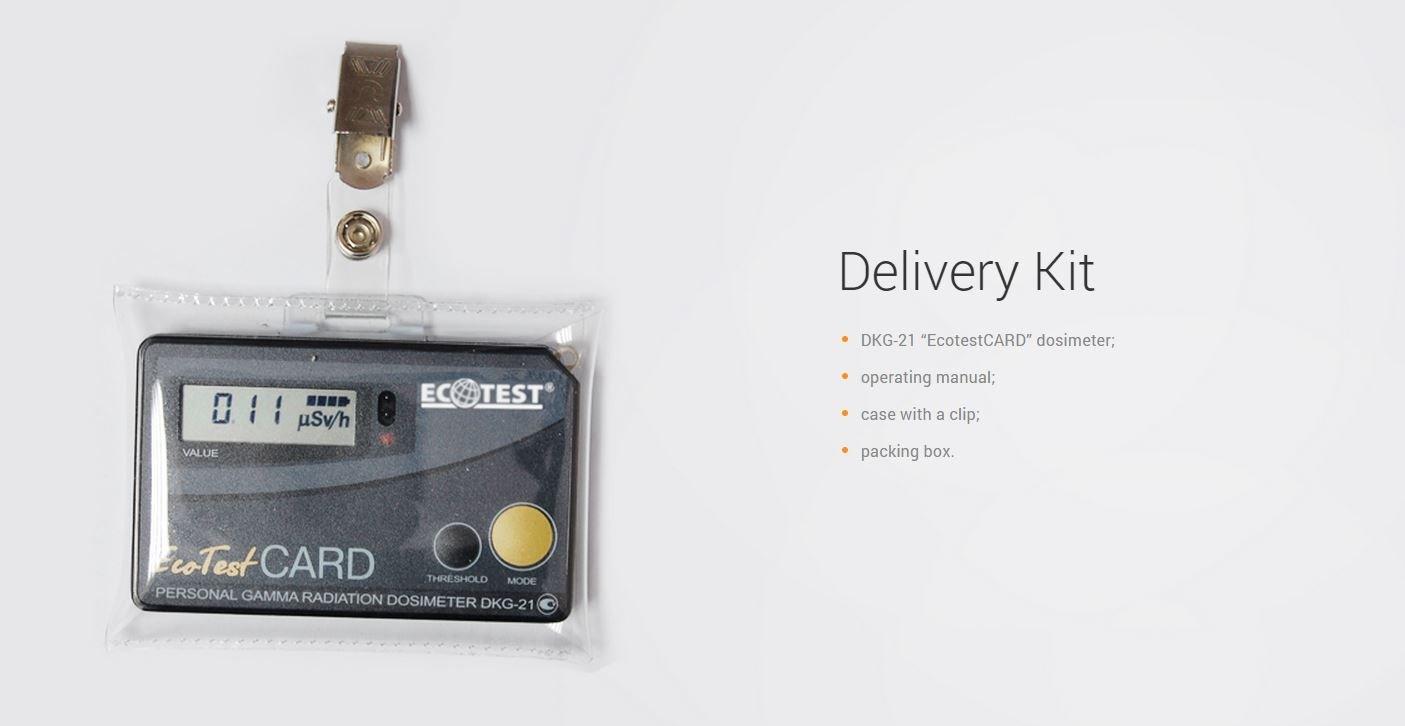 Personal Radiación Gamma dosímetro dkg-21 (ecotest tarjeta) versión en inglés: Amazon.es: Amazon.es
