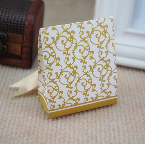 Wedding Gift Box Dubai : Patty 50 Gold Gift Boxes Candy Favor Box Wedding Decoration Party ...