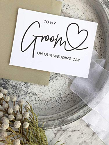 To My Groom on our Wedding Day Card from Bride Black and White Modern Wedding