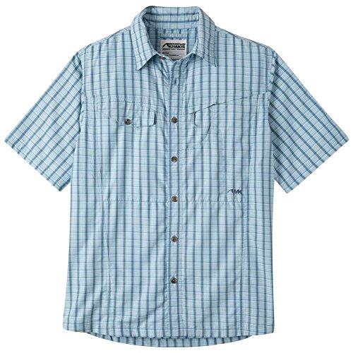 Pass Plaid Shirt (Mountain Khakis Trail Creek Short Sleeve Shirt - Men's - cornflower plaid, x-large)