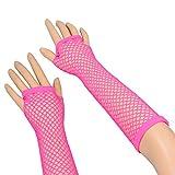 Stretchable Fingerless Diva Fishnet Gloves