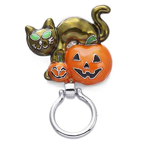 SENFAI Magnetic Eyeglass Holder-Pumpkin,zinc Alloy Brooch,Fashing and Charm Birthday Gift