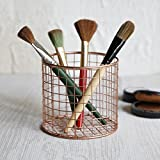 Decorative Wire Basket for Storage Pantry/Wire Baskets Round/Wire Basket Organizer/Wire Storage Baskets/Wire Mesh Baskets/Chicken Wire Basket Large Organizing Stackable Bins (Round Copper Collection)