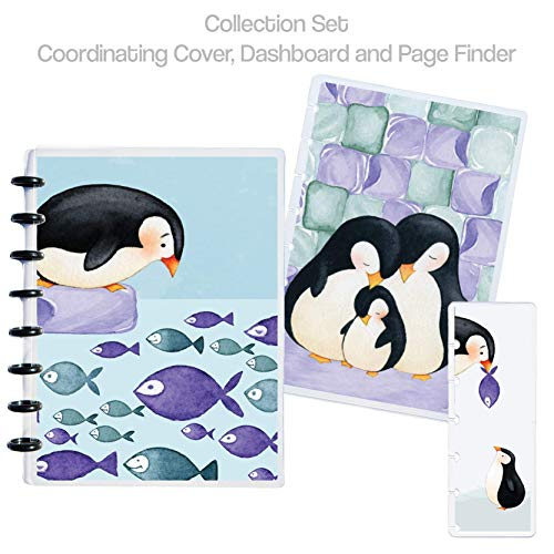 Penguin Fishing Planner Collection Set - Planner Cover, Dashboard and Page Finder - Laminated, Discbound ()