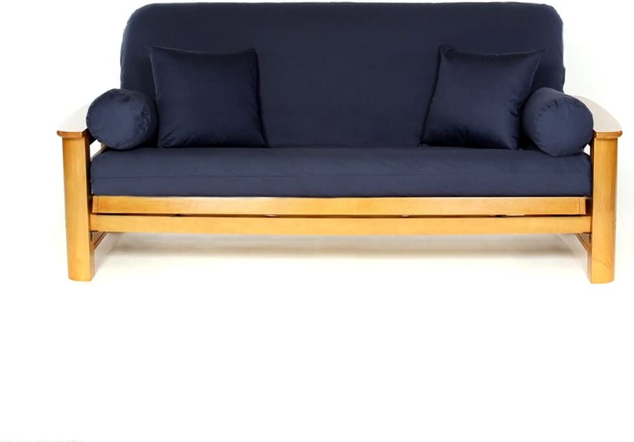 Royal Heritage Home Futon Cover 100% Cotton, Full Size, Navy