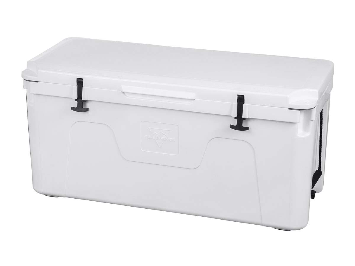 Monoprice Emperor Cooler - 160 Liters - White | Securely Sealed, Keeps Cold for 130 Hours & Hot for 150 Hours - Pure Outdoor Collection