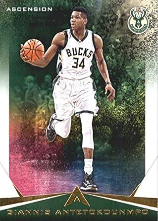 786820698 2017-18 Panini Ascension  1 Giannis Antetokounmpo Milwaukee Bucks  Basketball Card