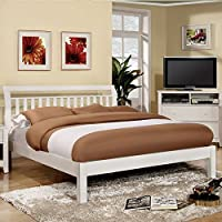 247SHOPATHOME Idf-7923WH-CK Platform-Beds, California King, White