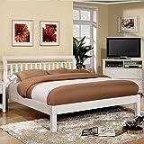Best 247SHOPATHOME Bed Frames - 247SHOPATHOME Idf-7923WH-CK Platform-Beds, California King, White Review