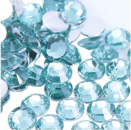 Beading Station 1000-Piece Flat Back Brilliant 14-Cut Round Rhinestones, 4mm-16ss, Sky Blue by Beading Station   B008FGK1C8