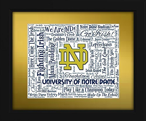 University of Notre Dame 16x20 Art Piece - Beautifully matted and framed behind glass