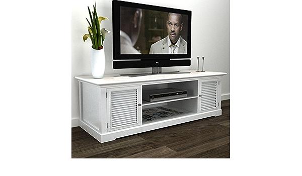 Lingjiushopping - Soporte de madera para televisor, color blanco, material: MDF y madera de pino (marco) + hierro (mango): Amazon.es: Electrónica