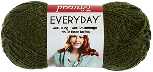 Premier Yarns 1-Pack Solid Deborah Norville Everyday Soft Worsted, Pine Green