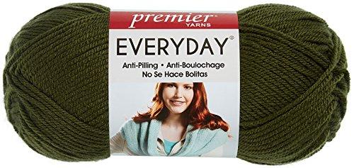 (Premier Yarns 1-Pack Solid Deborah Norville Everyday Soft Worsted, Pine Green)