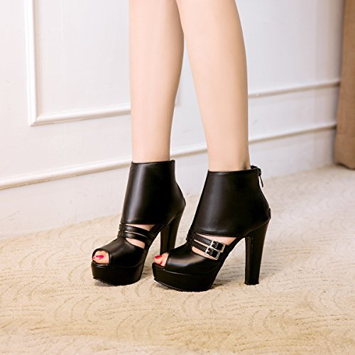 cool big thick yards with boots Female high Female JING sandals shoes Black heeled Summer tvwqxFx6P4