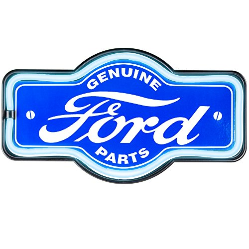 Genuine Ford Parts - Reproduction Vintage Advertising Marquee Sign - Battery Powered LED Neon Style Light - 17 x 10 x 3 ()