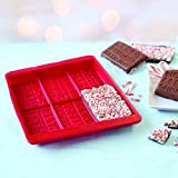 Sweet Creations Christmas Brittle Bark Silicone Chocolate Mold, Red