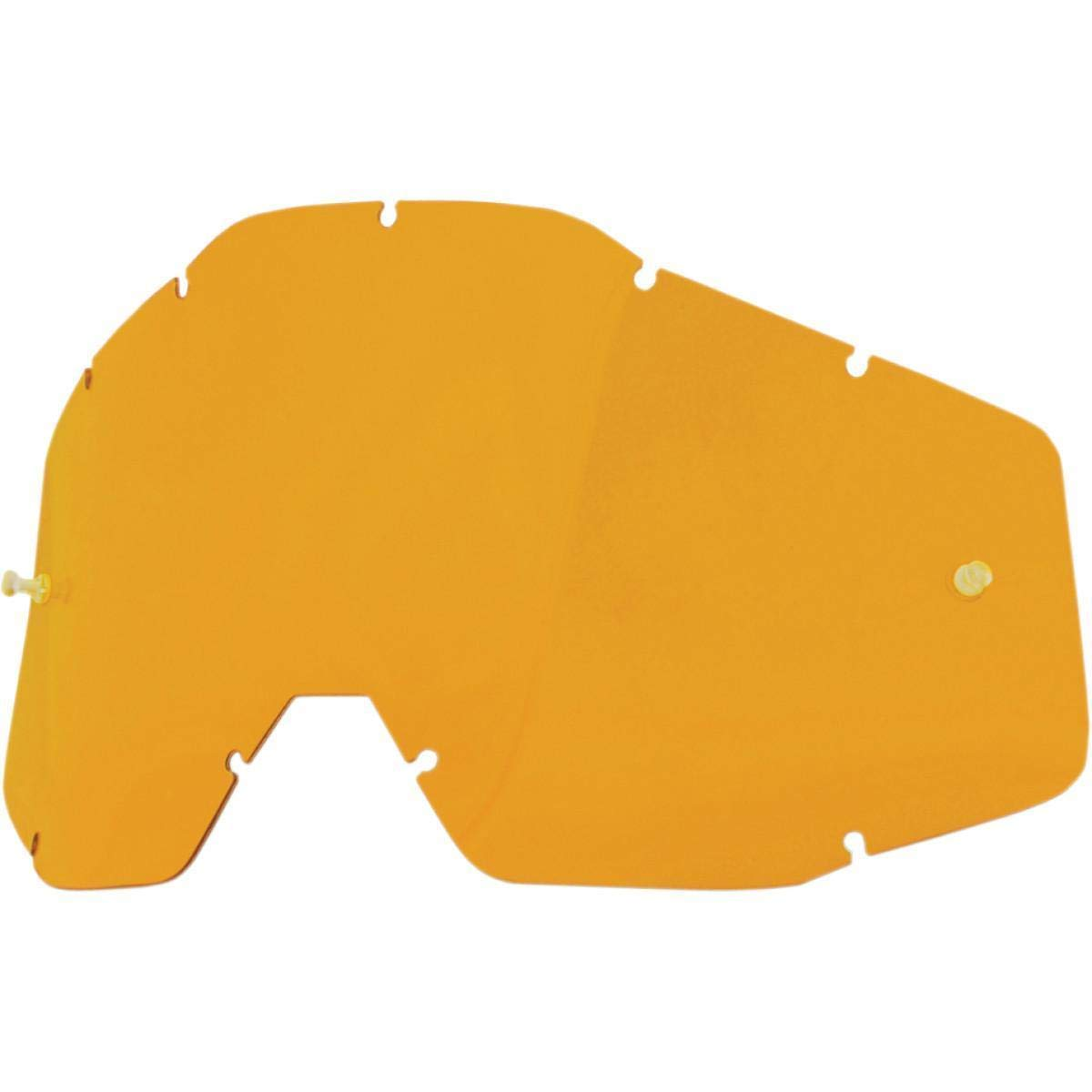 MX Goggle Lens 100 Percent Racecraft-Accuri-Strata Persimmon Anti-Fog (Default, Giallo) Sconosciuto 51001-046-02