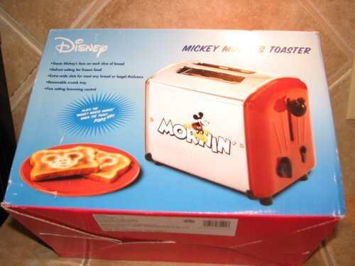 Cheap rare red MICKEY MOUSE musical toaster by VillaWare 5555-11-R