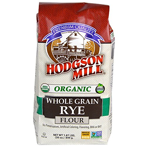 Hodgson Mill Organic Rye Flour, 30-Ounce (Pack of 6), Great for Baking Rye Bread Like Pumpernickel, Jewish Rye, or German Black Bread, Mix With Other Whole Grain Flours to Bulk (Baking Wheat Flour)