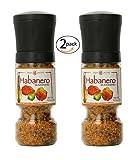 Habanero Seasoning Gripper Grinder, 4.2oz Adjustable Grinder for Fresh Hot Spice Flavor
