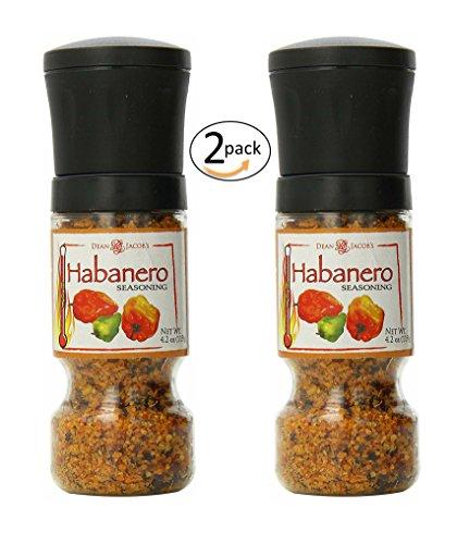 Habanero Seasoning Gripper Grinder, 4.2oz Adjustable Grinder for Fresh Hot Spice Flavor by Dean Jacob's