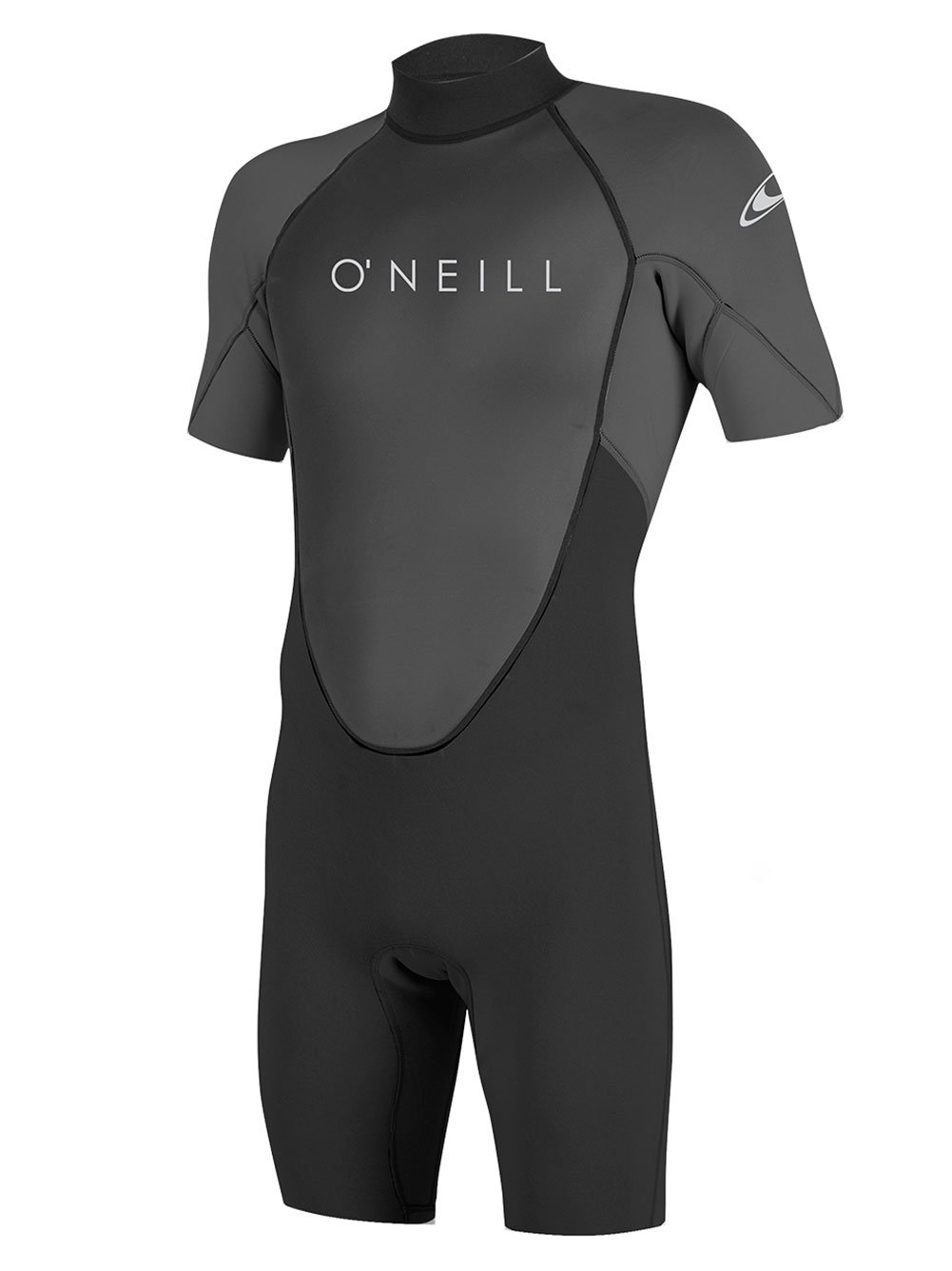 O'Neill Men's Reactor-2 2mm Back Zip Short Sleeve Spring Wetsuit, Black/Graphite, Medium by O'Neill Wetsuits