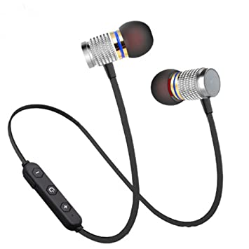 Hangrui Auriculares Bluetooth,V4.2 Auriculares estéreo Sports In Ear para Deportivo Correr Fitness Workout,para iPhone,iPad,Samsung,OPPO,VIVO,XiaoMi,Huawei: ...