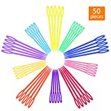 50 Pcs Plastic Sewing Needles, iFergoo 25 Pcs