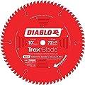 Diablo TrexBlade Circular Saw Blade - 10in., 72 Tooth, Composite Decking & Cellular PVC, Model# D1072CD